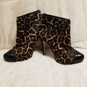 MICHAEL Michael Khors leopard skin booties